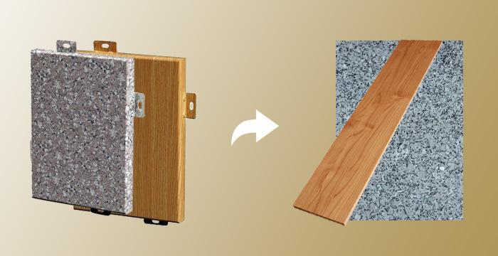 室内密拼铝单板平替木板与石板
