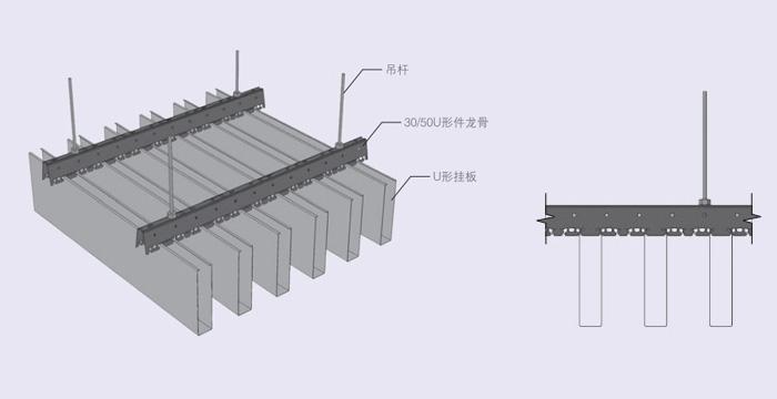 铝方通吊顶施工工艺安装说明